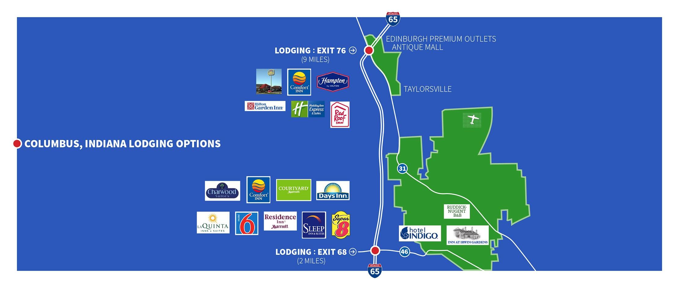columbus hotel map